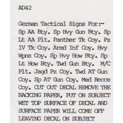 AD42 German Tactical Signs