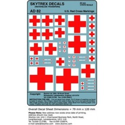AD82 U.S. Red Cross Markings