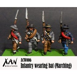 Infantry Marching with hat A