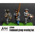 Command group wearing hat
